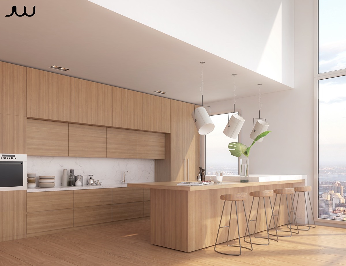 50 Modern Kitchen Designs That Use Unconventional Geometry on Modern Kitchen Design  id=11155