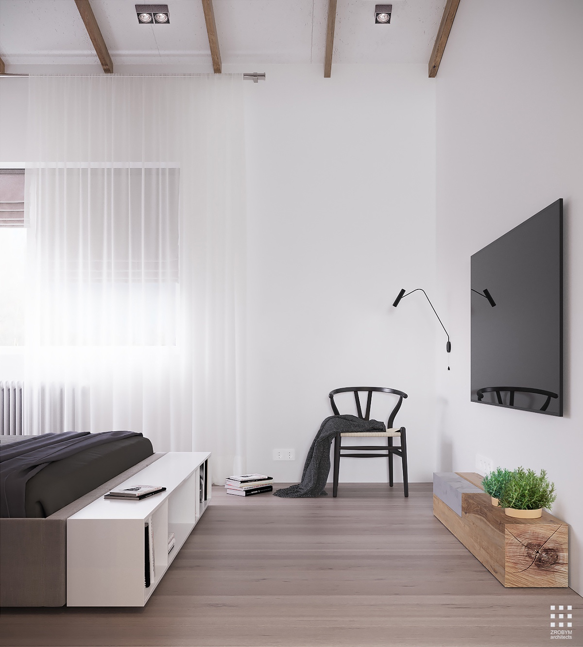 Minimalist Bedroom: An Organic Modern Home With Subtle Industrial Undertones