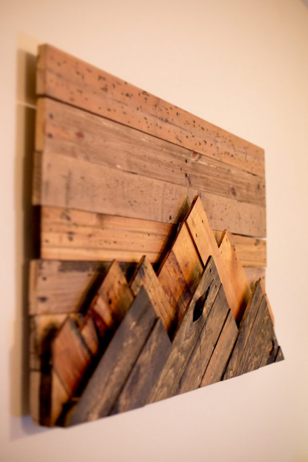 It Wooden Mountain Range Wall
