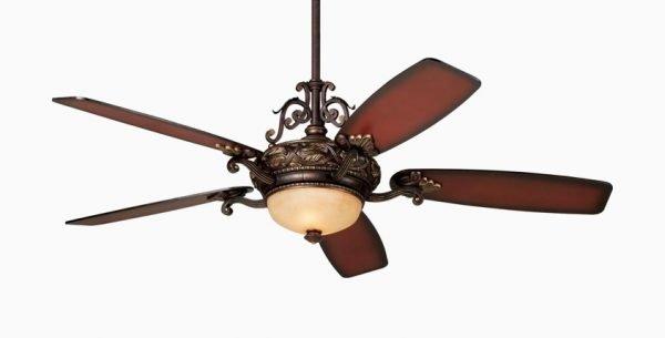 It Casa Teak Finish Ceiling Fan With Light