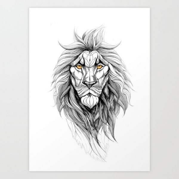 50 Amazing Art Prints Of Lions For Your Walls African lion coloring page from lions category. interior design ideas