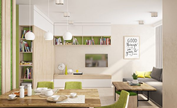 While color blocking is the easier and more flexible route this carefully curated apartment is a perfectionists dream