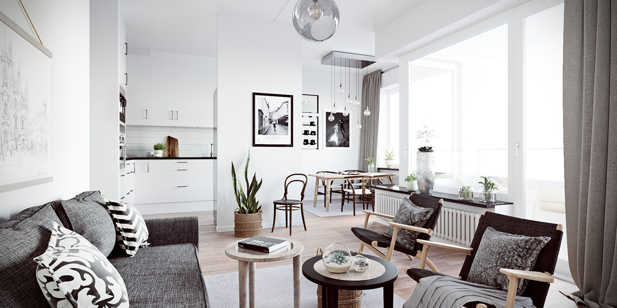 Scandinavian lounge vinyl wall decoration six scandinavian interiors that make the lived in look inspirational