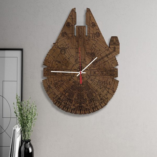 star wars decor 34 wooden wall clocks to warm up your interior 29750