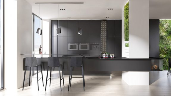40 Beautiful Black & White Kitchen