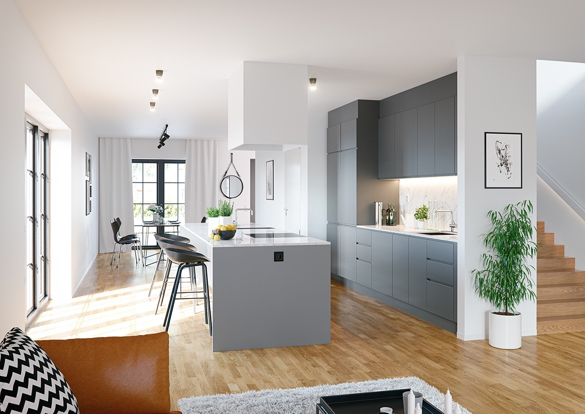 Tremendous 40 Gorgeous Grey Kitchens Download Free Architecture Designs Sospemadebymaigaardcom