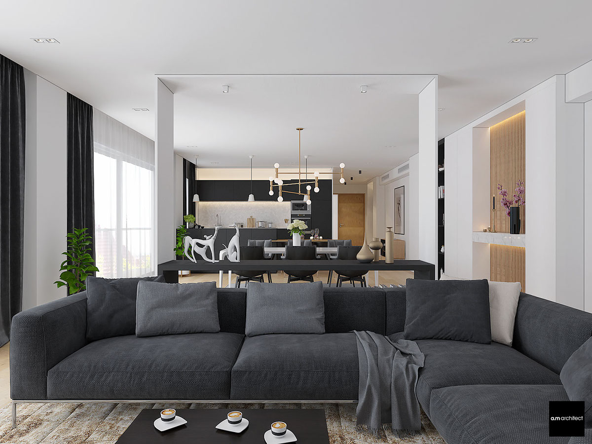 Two Modern Minimalist Apartments With