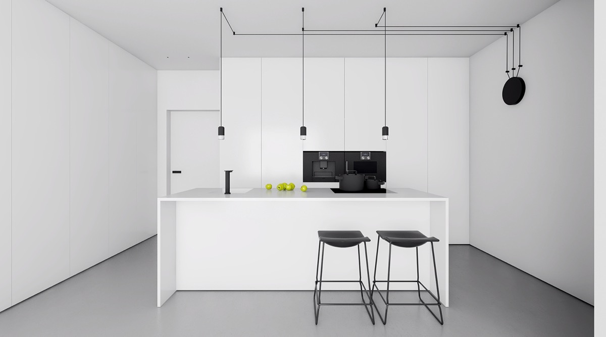 Fabulous 40 Beautiful Black White Kitchen Designs Download Free Architecture Designs Terchretrmadebymaigaardcom