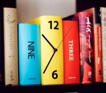 Book Clock: Let time fly as these books cuddle in your bookshelf. A set of three books in different colours act as one piece, blending into your bookshelf at the same time.
