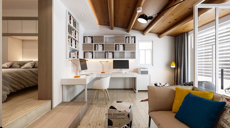 Open Plan Kitchen Living Room Small Tiny Houses Layout