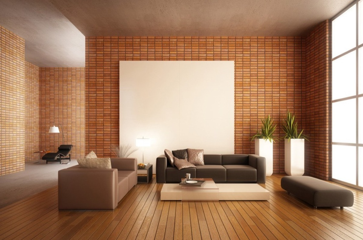 red brick wall tiles living room 1025theparty com - Dark Tiles Living Room