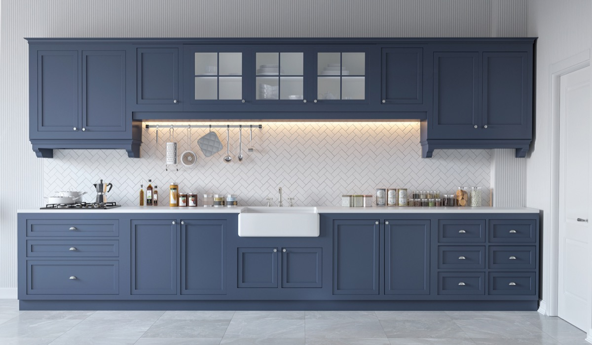 blue gray cabinets kitchen 30 gorgeous grey and white kitchens that get their mix right 12481