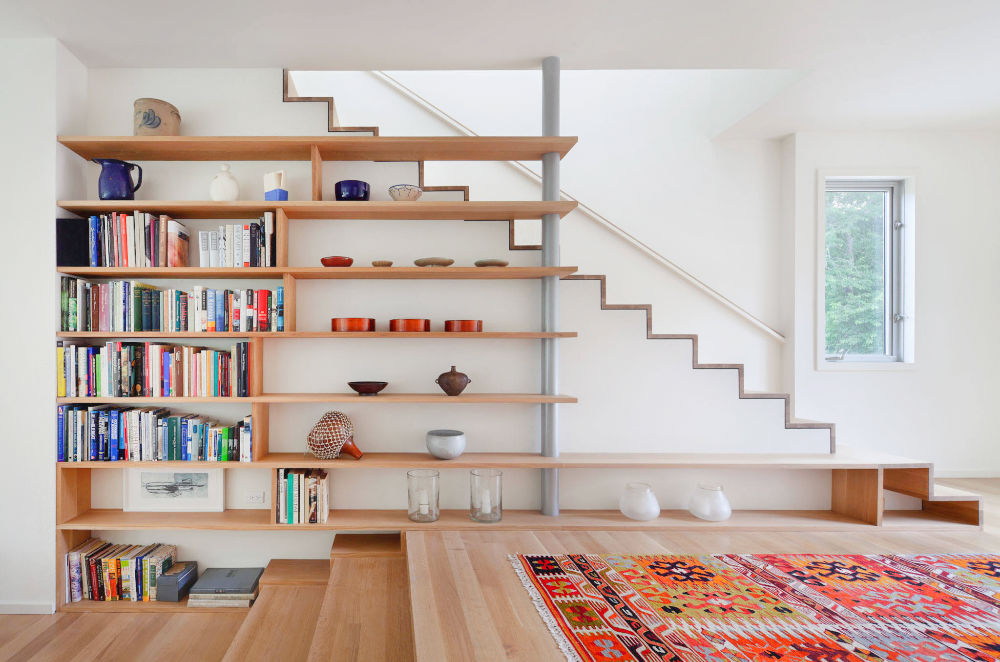 Under Stairs Shelf Ideas For Book Storage