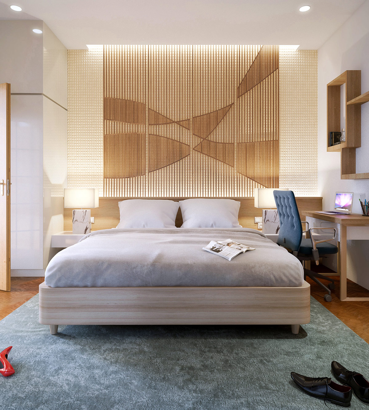 Wood Accent Wall Bedroom Ideas: 25 Beautiful Examples Of Bedroom Accent Walls That Use