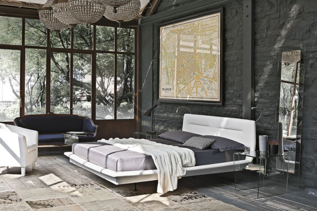 Most Beautifull Deco Paint Complete Bed Set: Bedrooms With Exposed Brick Walls