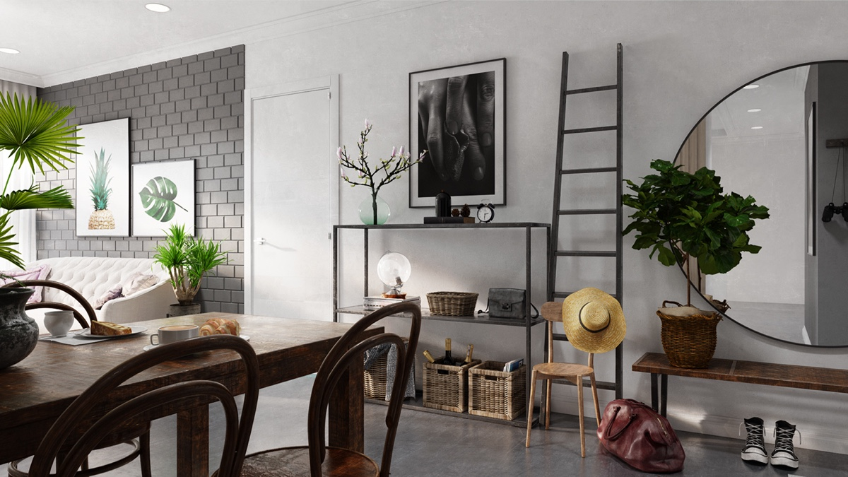 grey and white interior design inspiration from scandinavia. Black Bedroom Furniture Sets. Home Design Ideas