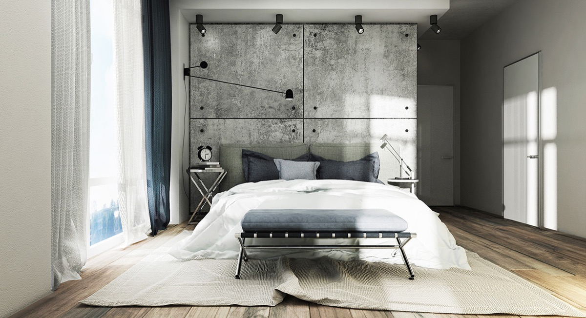 Concrete wall designs 30 striking bedrooms that use concrete finish artfully