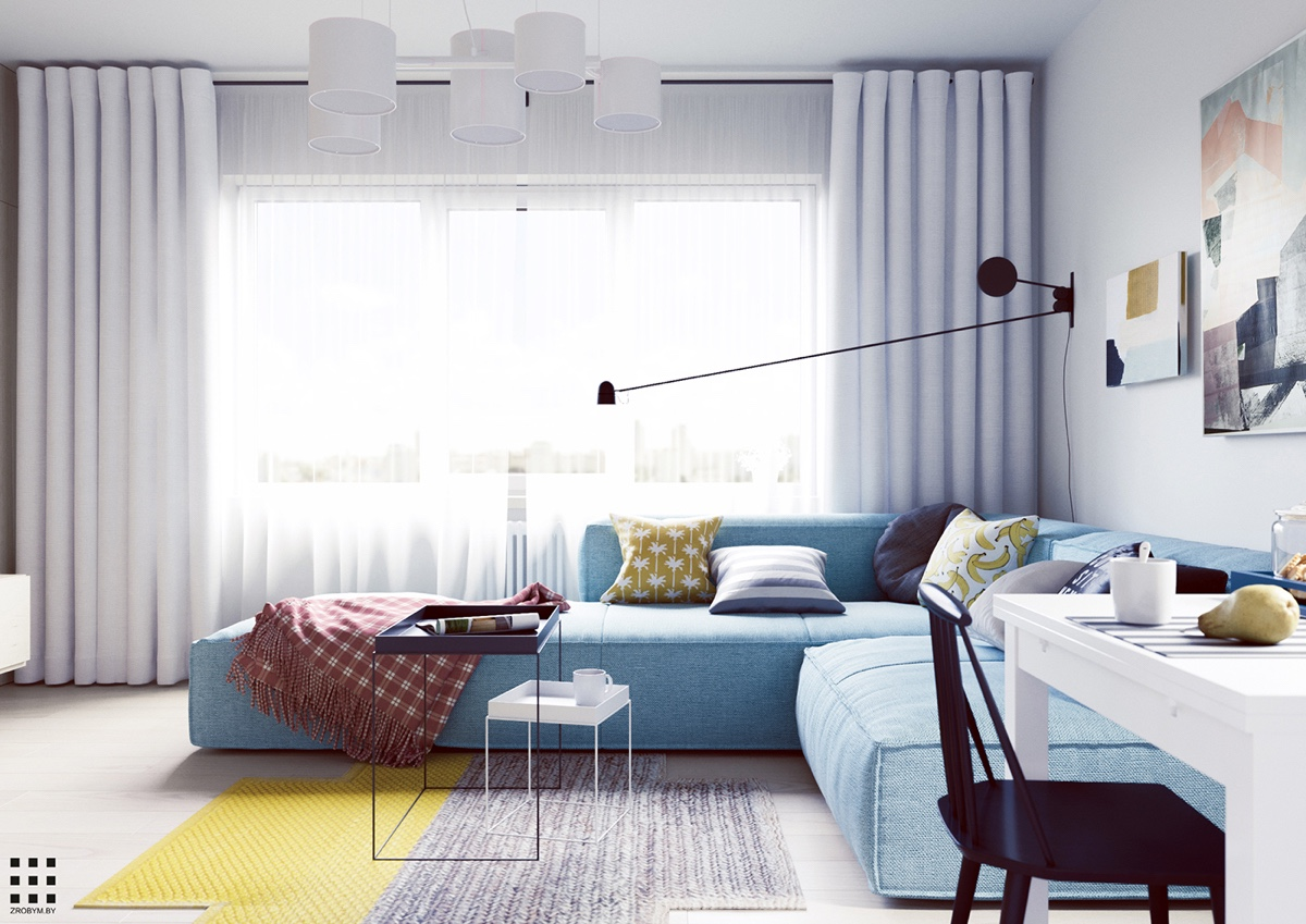HOME DESIGNING: A Scandinavian Style Apartment Perfect For a Small ...