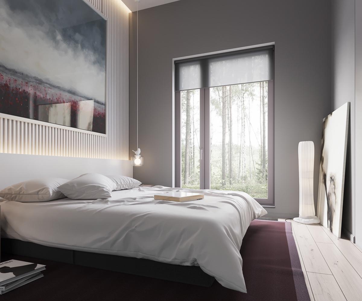 Master Bedroom Area Rugs Led Strip Lighting Bedroom Bedroom Design Pakistan Bedroom Interior As Per Vastu: Minimalist, Muted-Colour Home With Scandinavian Influences