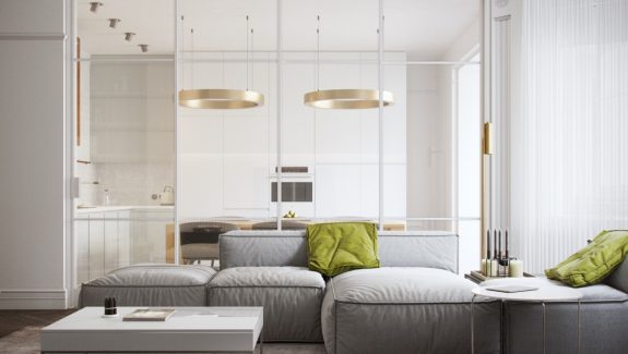 Light and modern sophistication in a two bedroom apartment