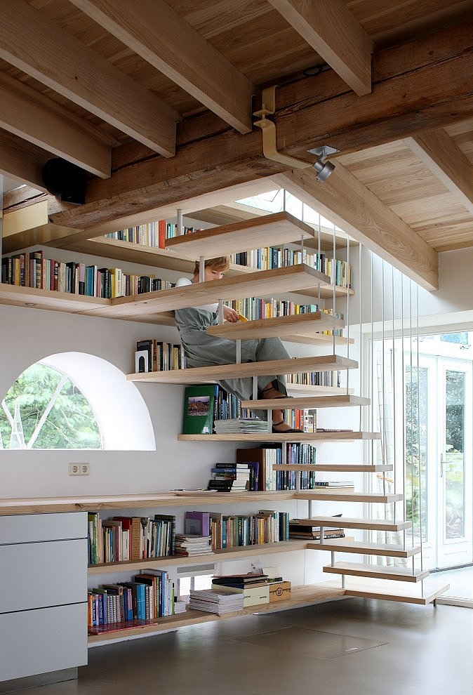 Book Storage In Around Stairs