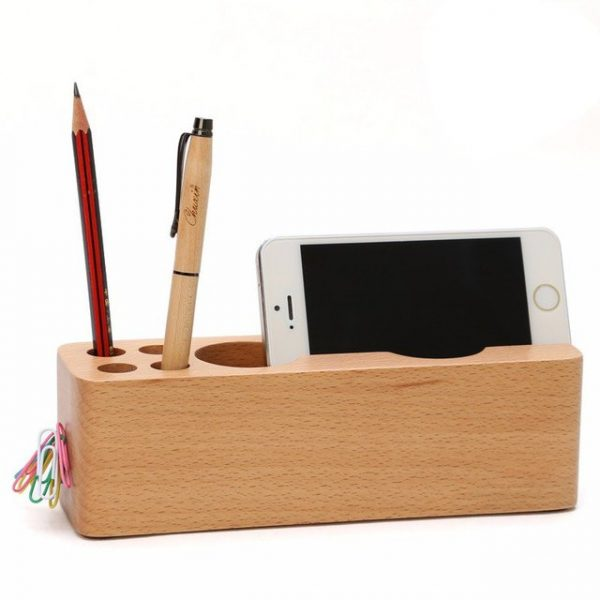 7 Storage Compartments Multifunctional Leather Office Desktop Organizer Business Card Pen Pencil Mobile Phone Holder Stationery Elegant In Smell Pen Holders