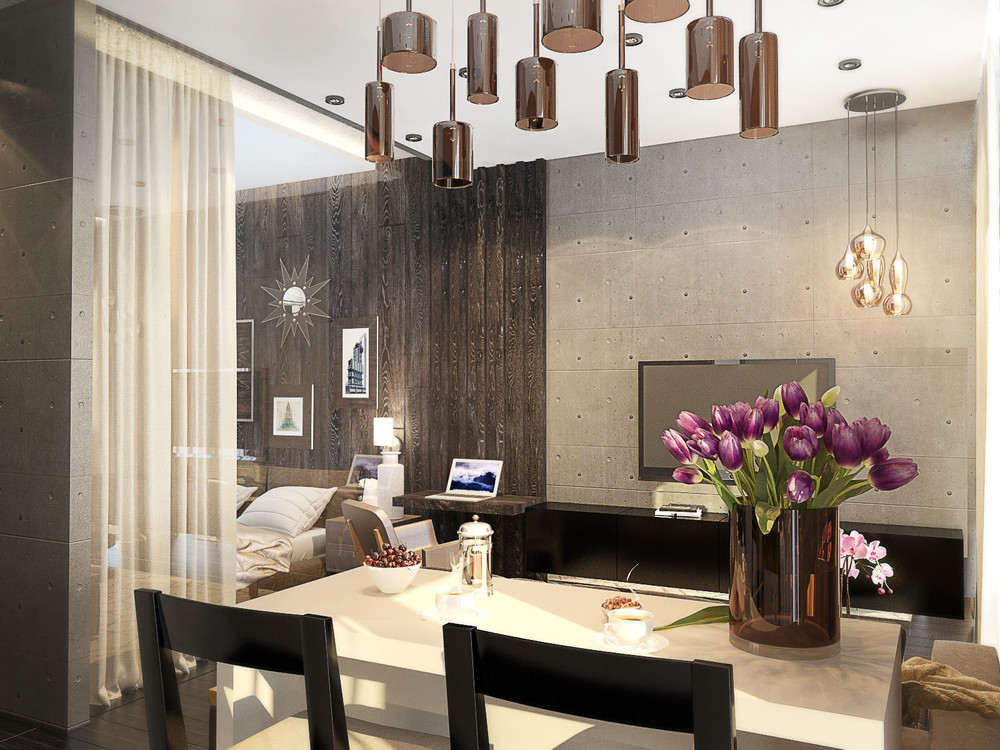 One room apartment dining room 4 fabulously stylish studio apartments