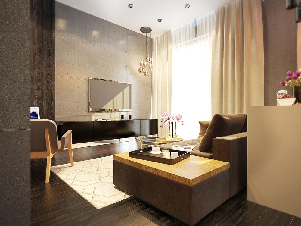 One room apartment living tv 4 fabulously stylish studio apartments