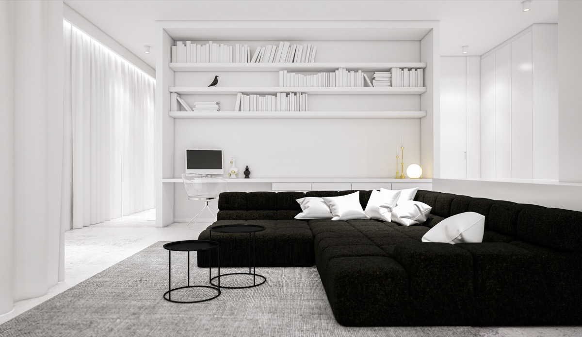 30 black   white living rooms that work their monochrome magic Black Living Room Decorating Ideas black and white living room furniture ideas