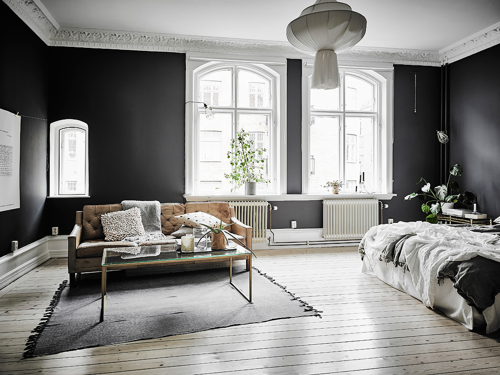 30 black white living rooms that work their monochrome magic - Gray living room walls ...