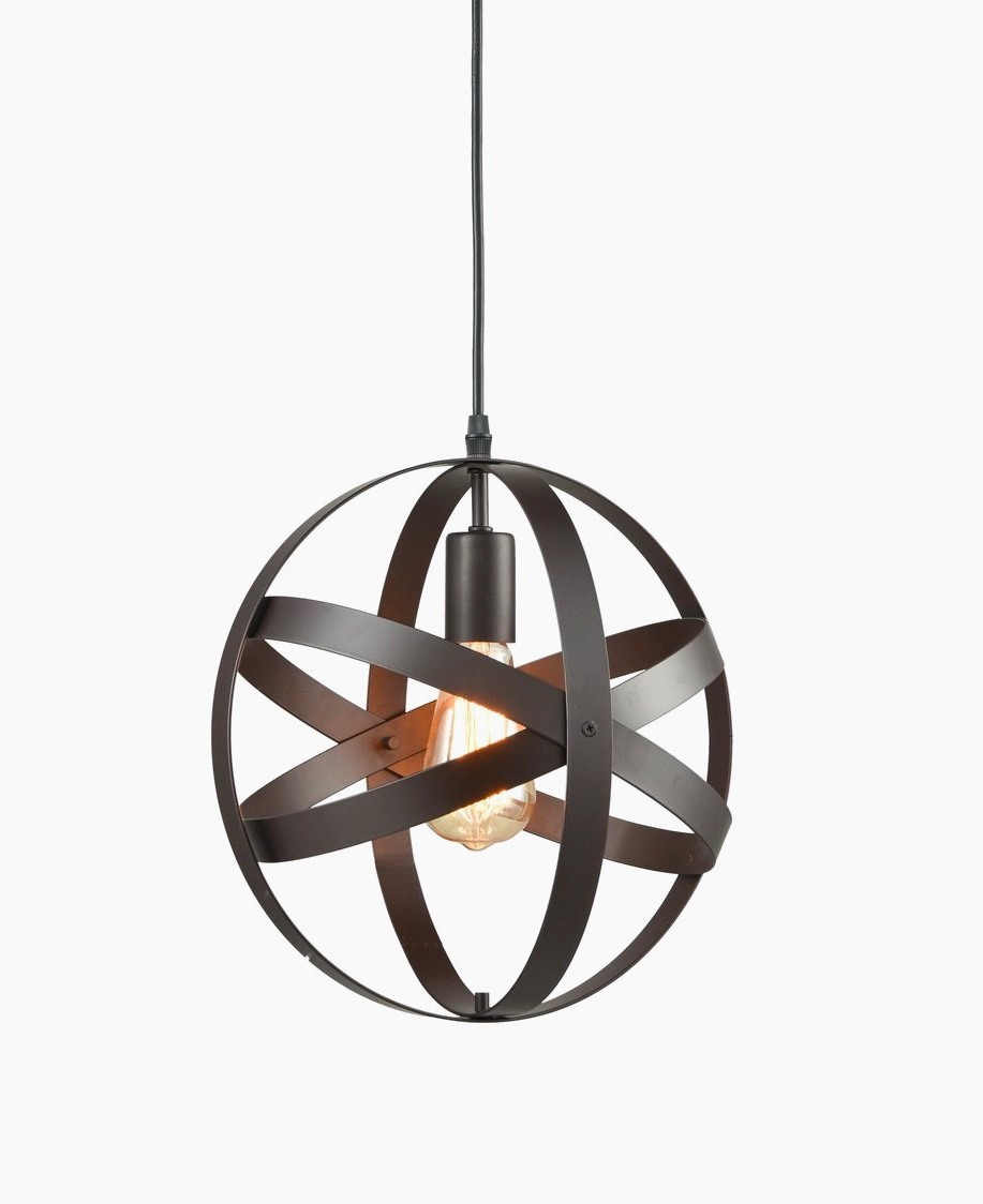 12 industrial spherical pendant light