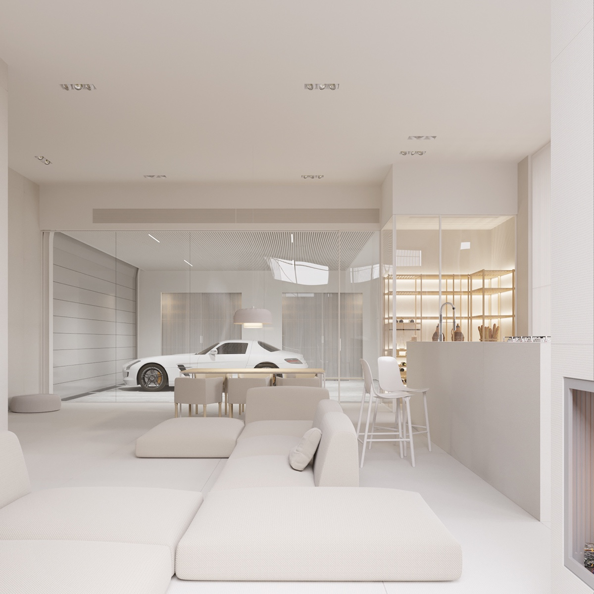 Inside Of A Luxury Home Living Room: A Mesmerizingly Minimalist 4 Bedroom Luxury House By Igor