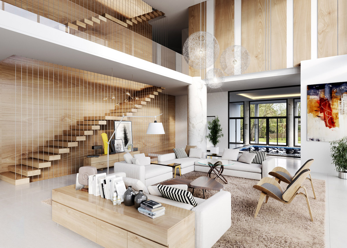 30 Double Height Living Rooms That Add