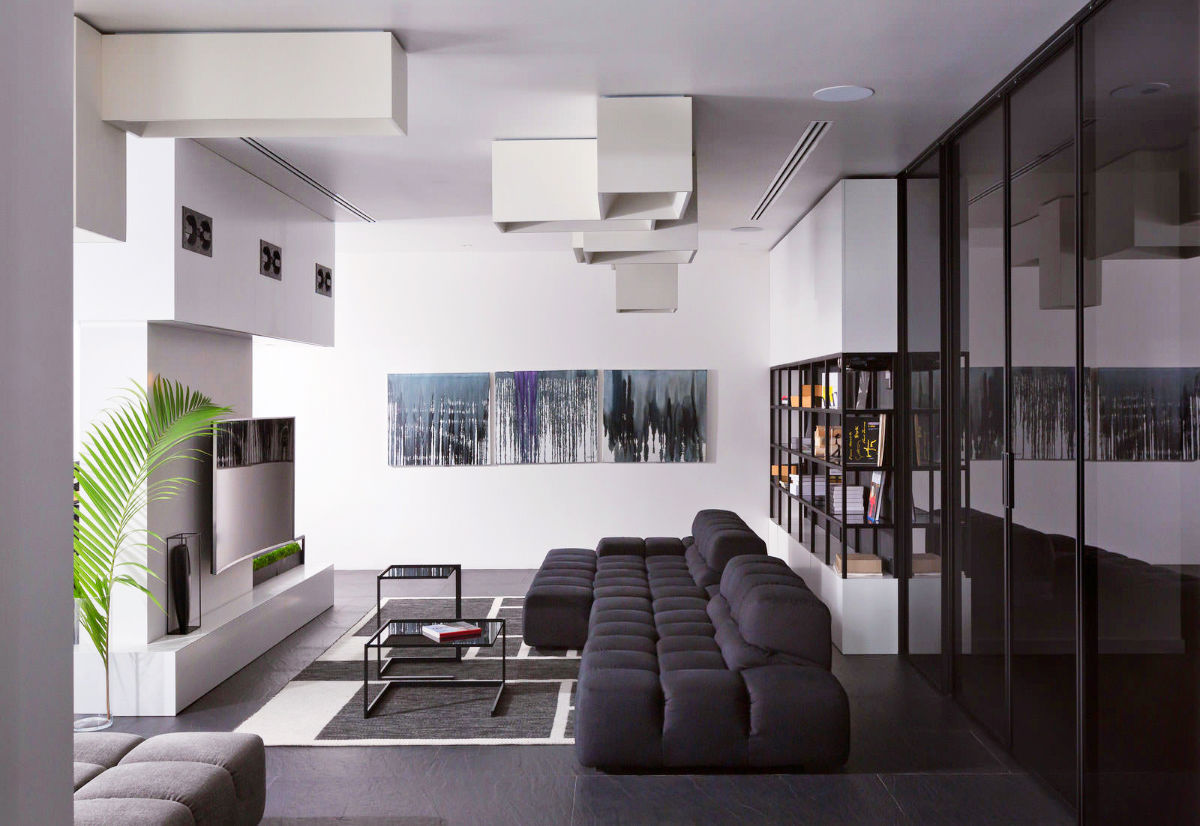 30 black   white living rooms that work their monochrome magic Black and White Living Room Ideas black and white leather living room furniture