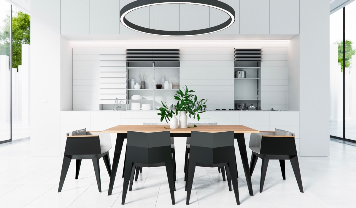 30 Black White Dining Rooms That Work, Black And White Dining Room Set
