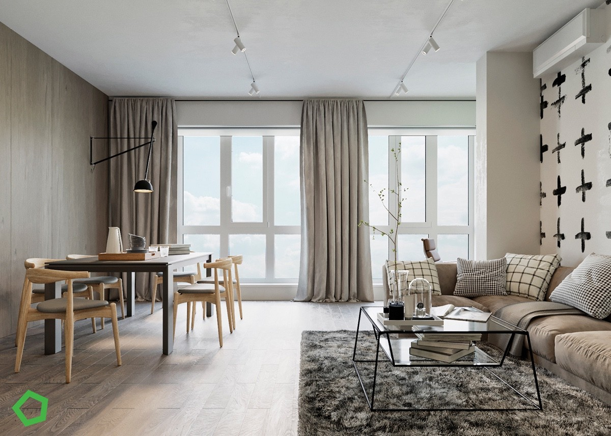 Merveilleux HOME DESIGNING: Relaxing Color Schemes In 3 Efficient Single Bedroom  Apartments [With Floor