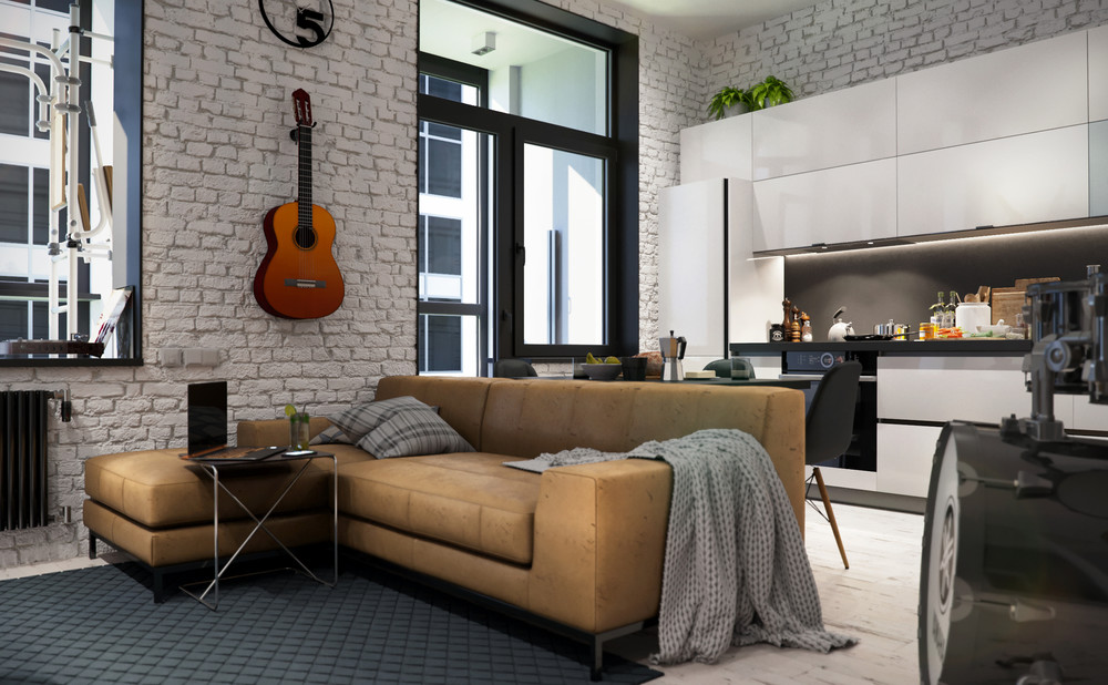 And finally a compact apartment that bucks the trend of minimalism and embraces a comfortable homey aesthetic that showcases the personality of the