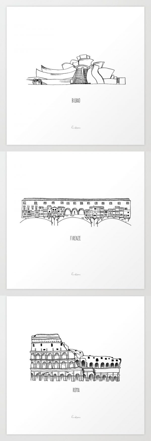 40 Beautiful Architectural Prints Posters For People Who Love