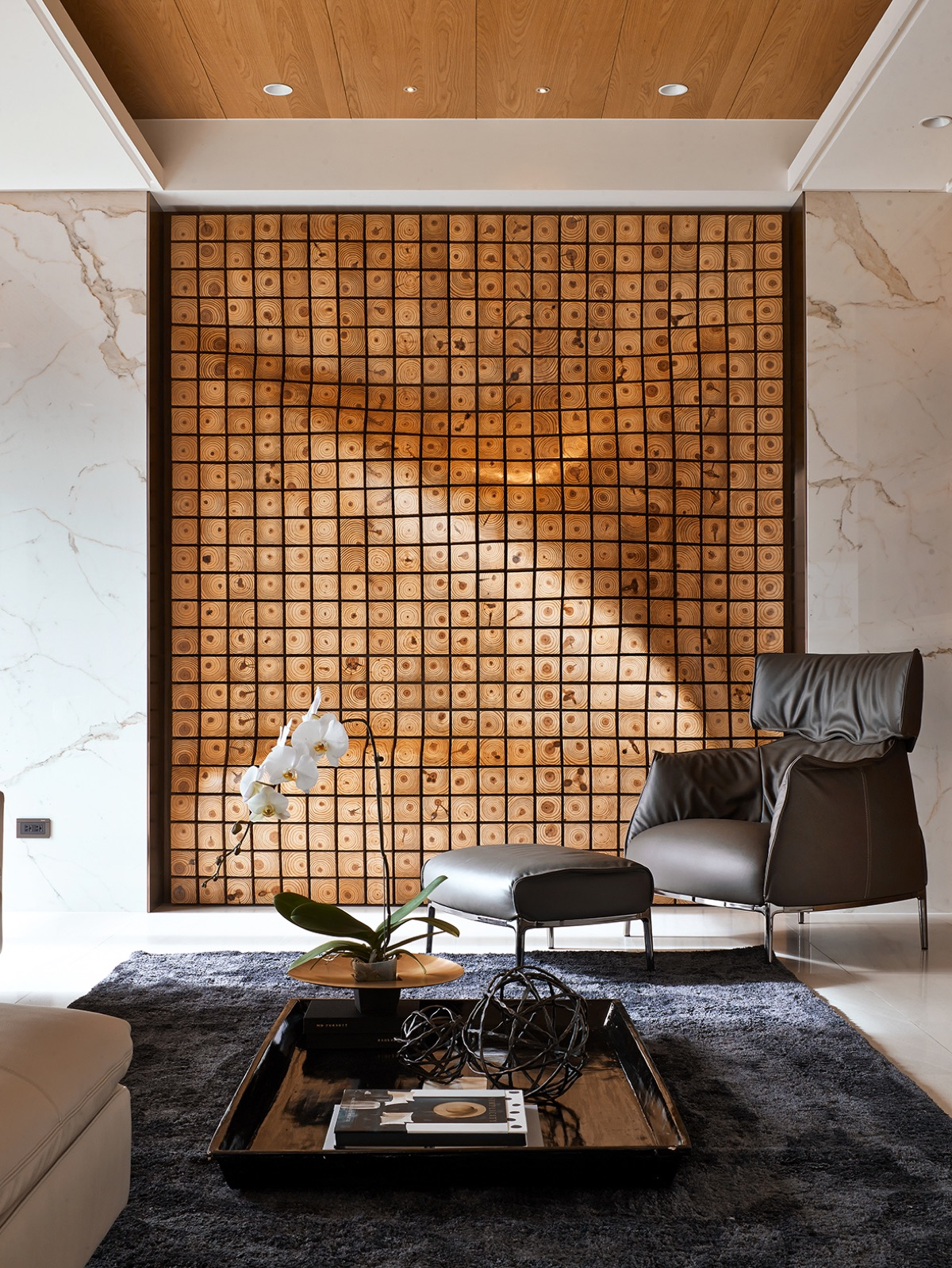 4 homes with design focused on beautiful wood elements - Wall designs with wood ...