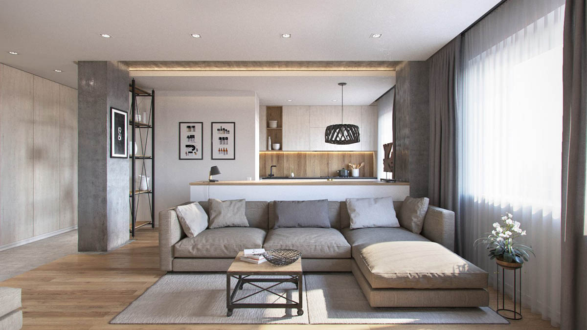 3 one bedroom apartments under 750 square feet 70 square - Bedroom layout ideas for square rooms ...
