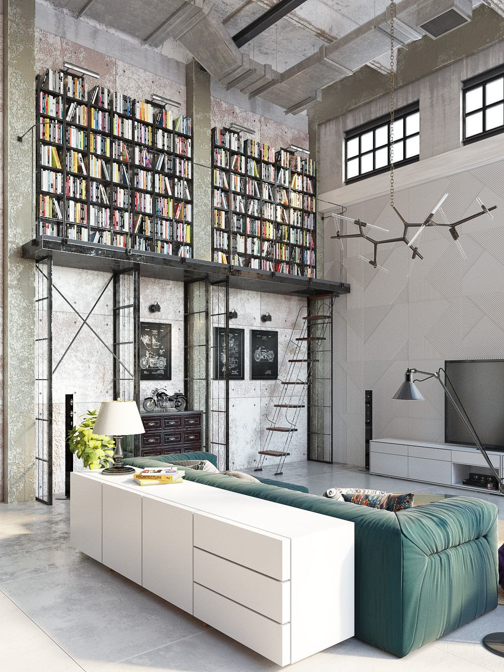 50 Stunning Interior Design Ideas That Will Take Your House To Another Level: Industrial Style Living Room Design: The Essential Guide
