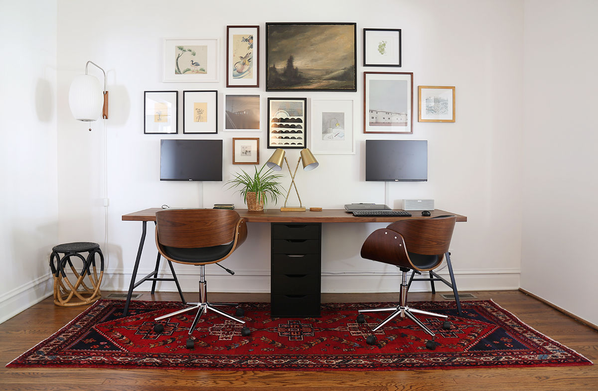 Home Office Desk: 36 Inspirational Home Office Workspaces That Feature 2