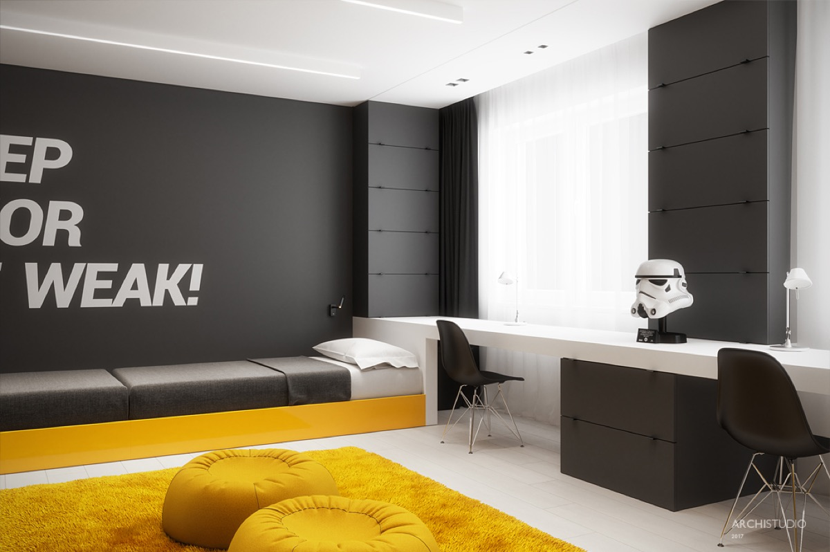 Dark Themed Kids Rooms