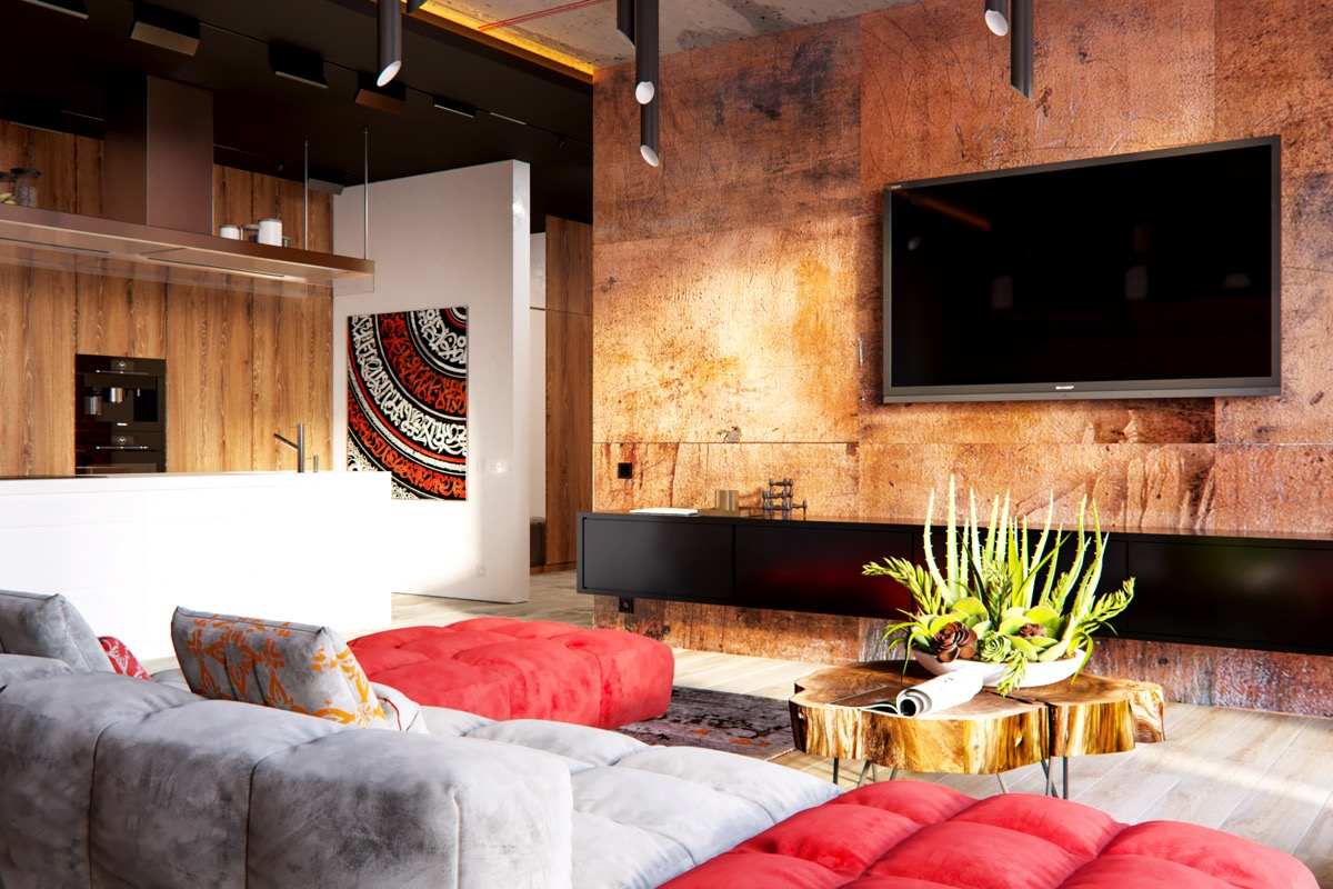 Unusual Accent Walls: 3 Modern Apartment Interiors That Masterfully Demonstrate