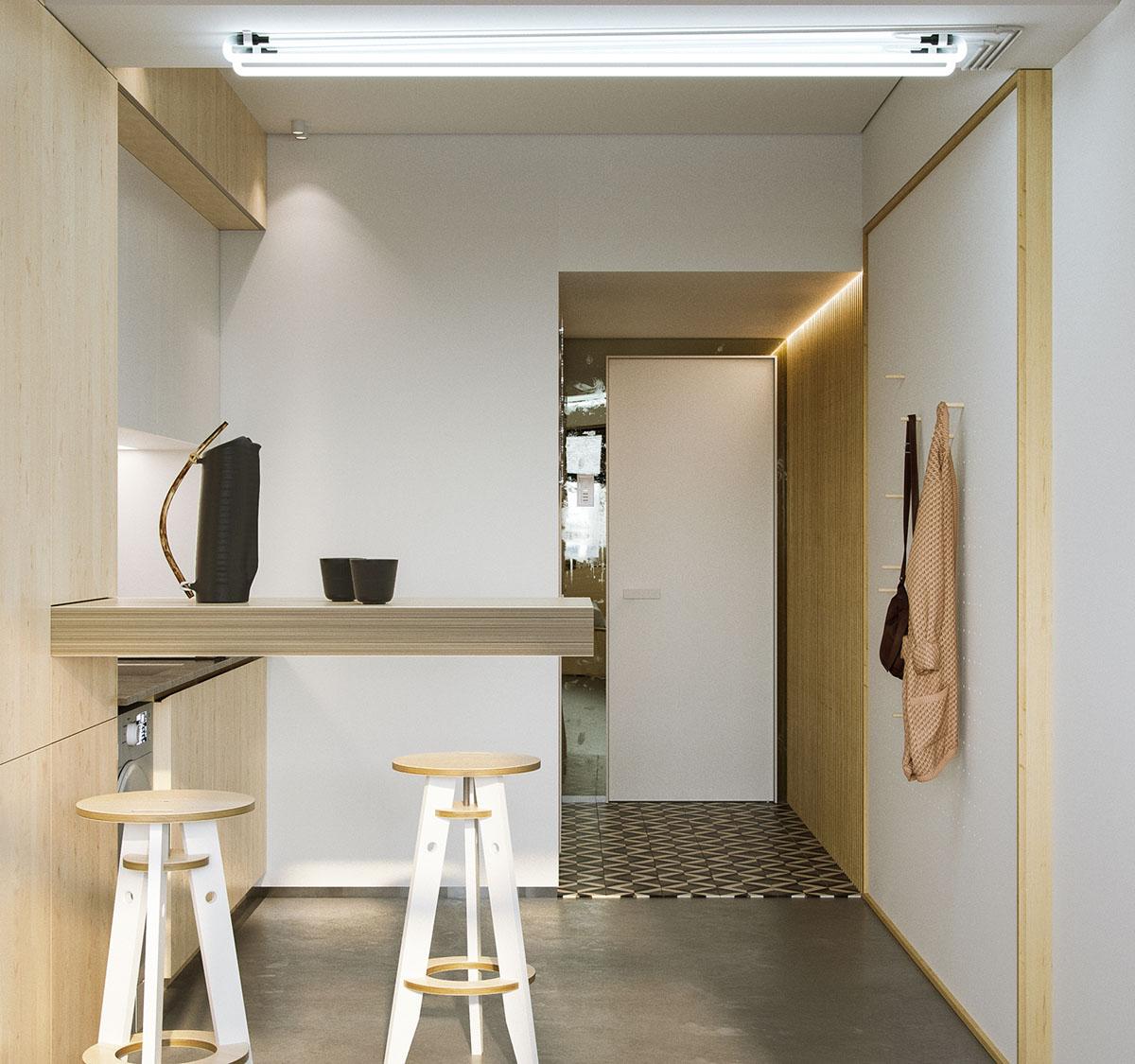 23 Square Living Room Designs Decorating Ideas: Super Compact Spaces: A Minimalist Studio Apartment Under