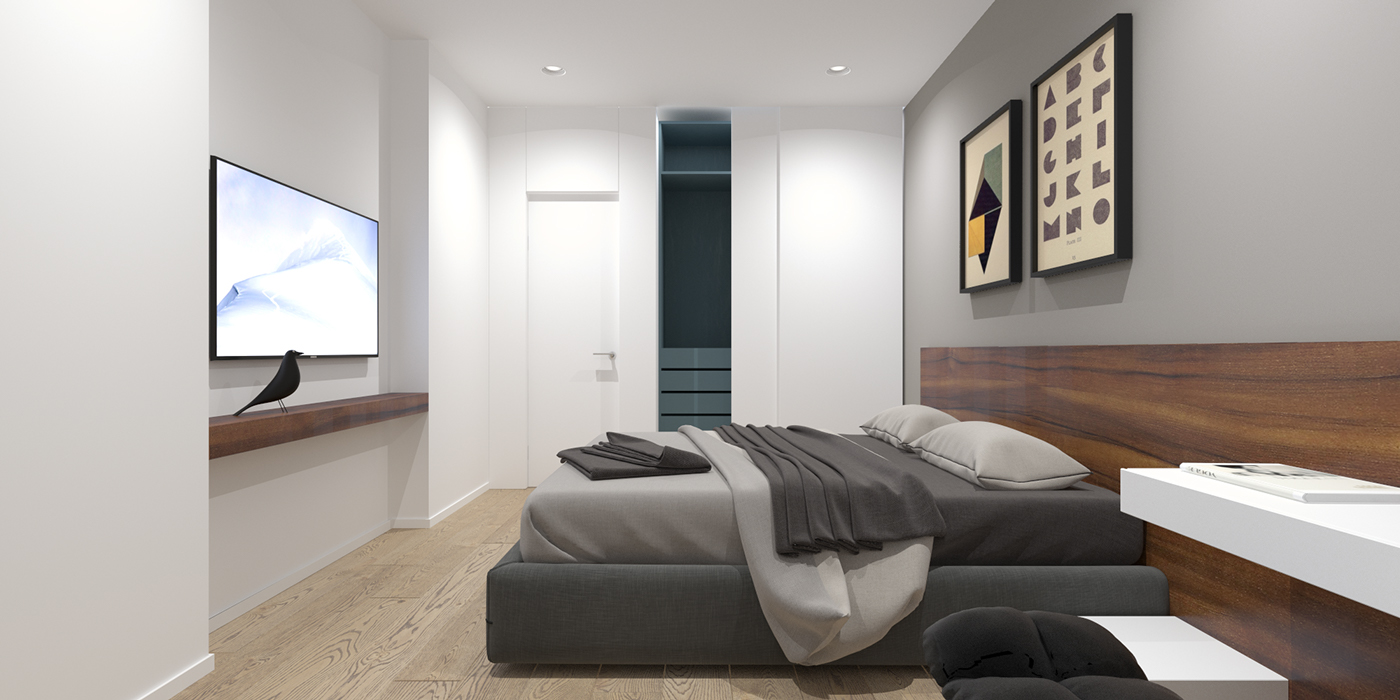 Double Bedroom L-Shaped Home Design: 2 Examples With Floor ...