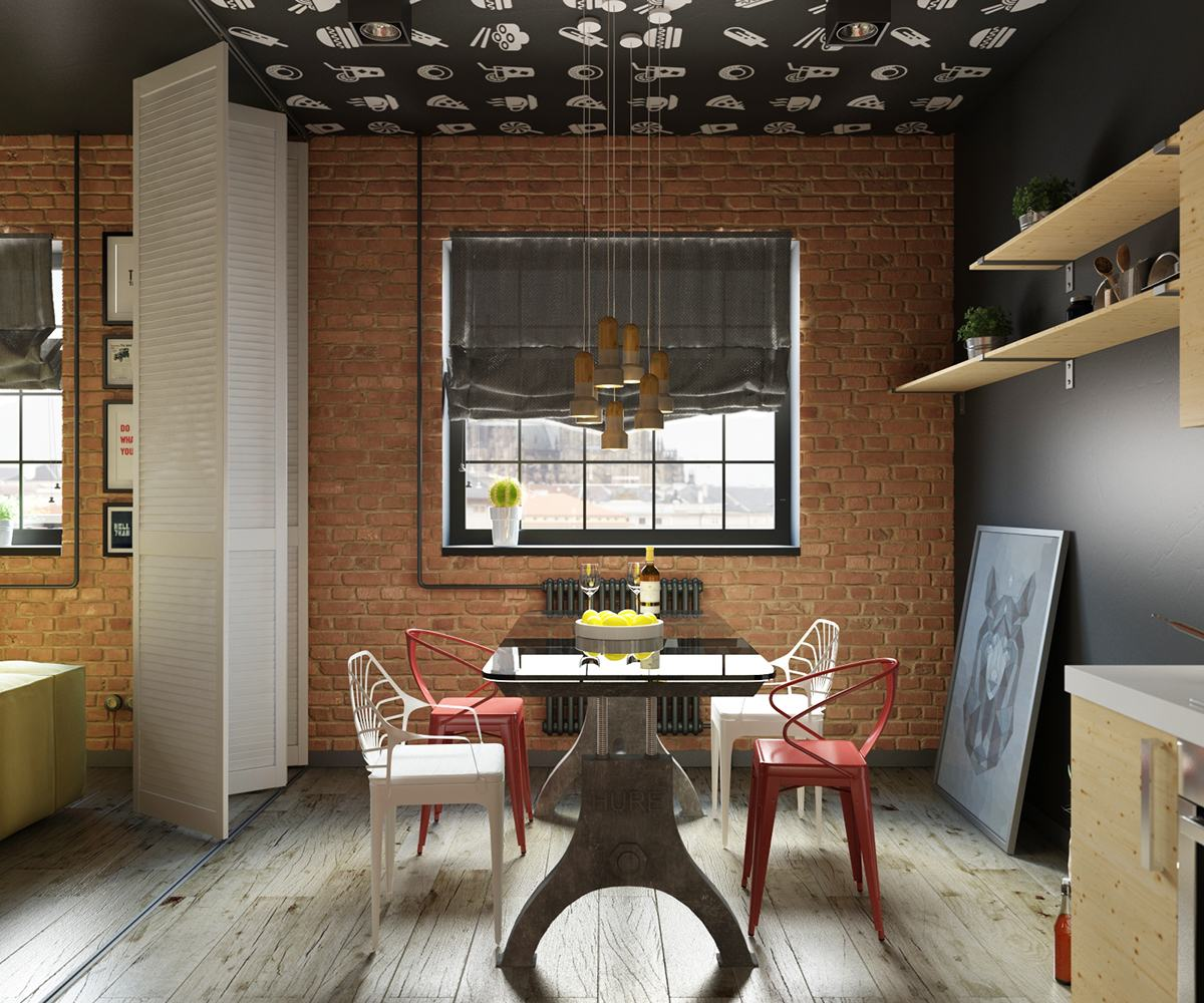 Industrial Style Living Room Design The Essential Guide: Industrial Style Dining Room Design: The Essential Guide