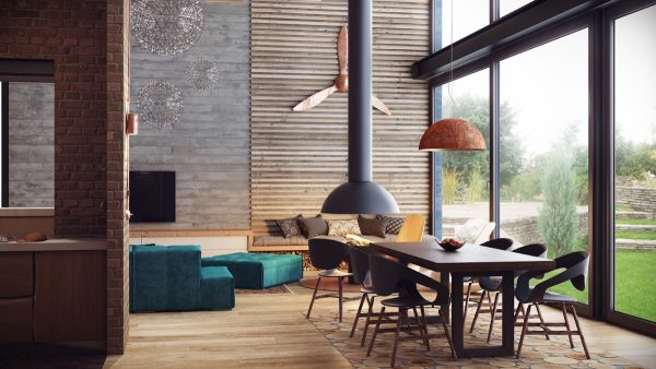 Visualizer alexander uglyanitsa while industrial decor can sometimes make an interior look rustic this dining room keeps