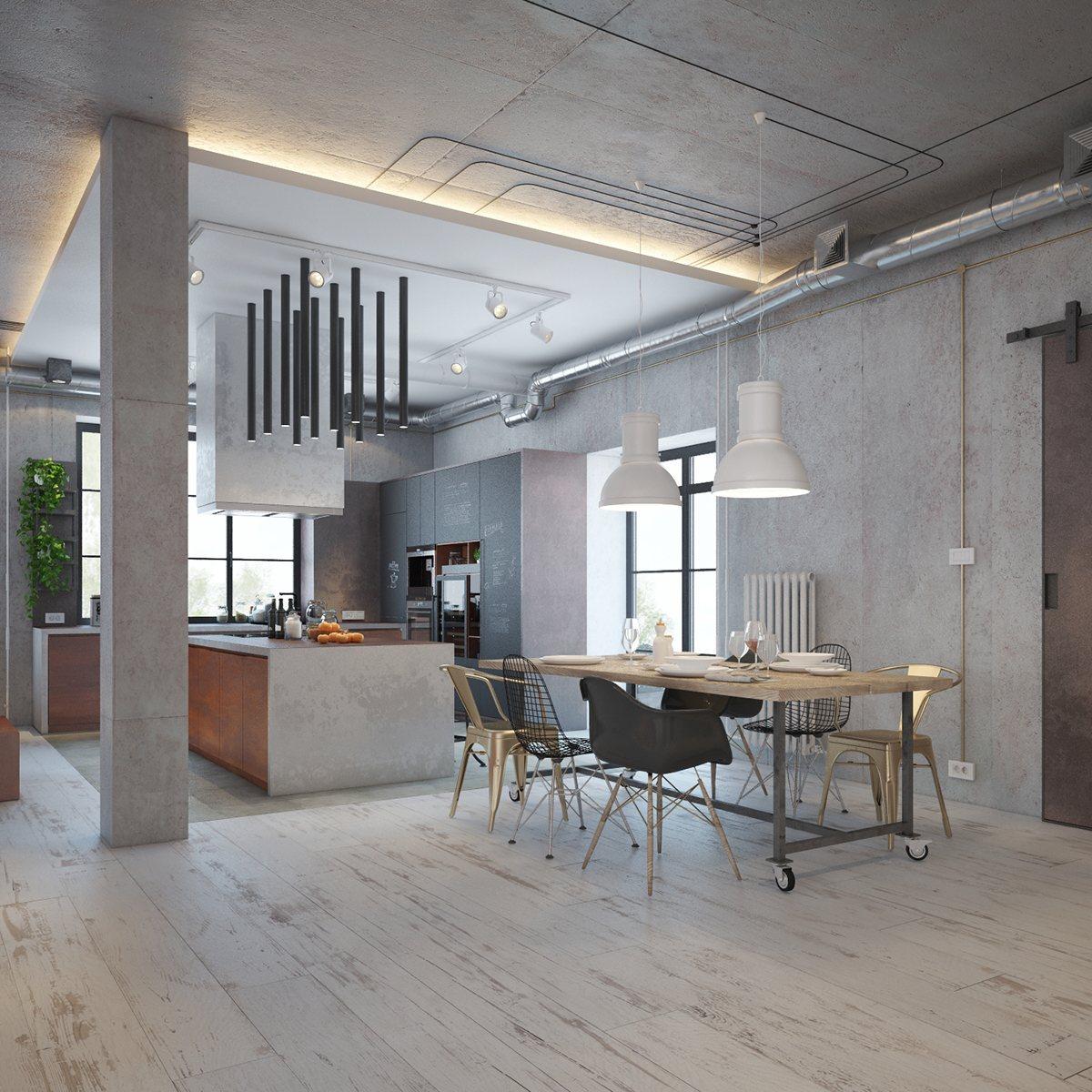 Industrial Home Design Spectacular Modern Industrial Home: Industrial Style Dining Room Design: The Essential Guide