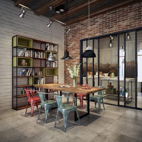 Industrial Style Dining Room Design, Industrial Style Dining Room Chairs